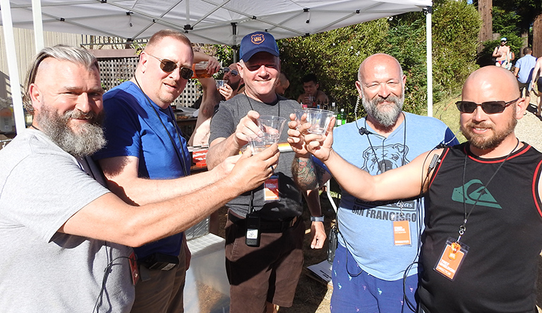 A Toast to a Splendid Weekend!  The Lazy Bear Fund Board, from l to rt: Vice President John Jacob; Treasurer Steve Adams; President David Barker; Director Fred Bothe; Secretary Trey Sheldon.