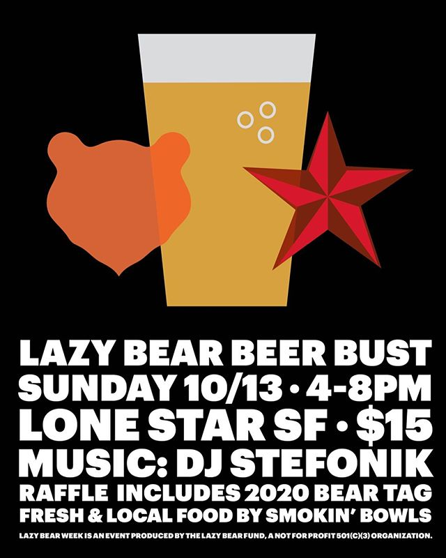 Next weekend there are two great ways to play with Lazy Bears! In Guerneville at the R3 on Saturday and Sunday is Lazy Bear Affair pool party. And in SF on Sunday is the Lazy Bear Beer Bust at @lonestarsaloonsf