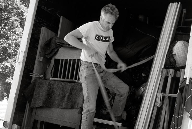John Dowd, on the job in 2004. Photo by Kat Dalton.