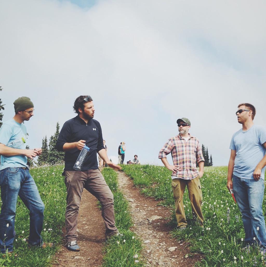(L to R) Cameron Currier (Sound Mixer), Chris Koser (DP), Jim Pidgeon (Executive Producer), Caleb Young (Director)