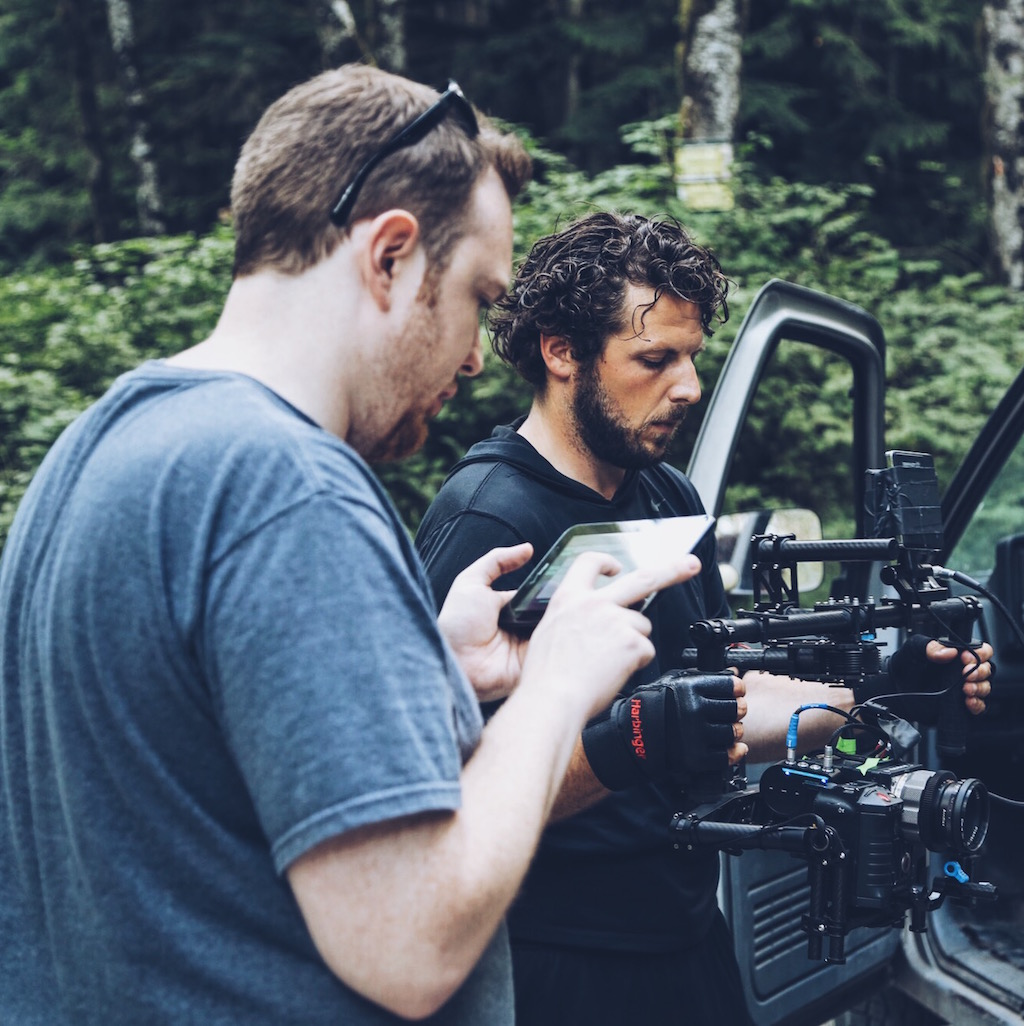 Our MoVi Tech, Doug, gets the rig tweaked for a very long shot.