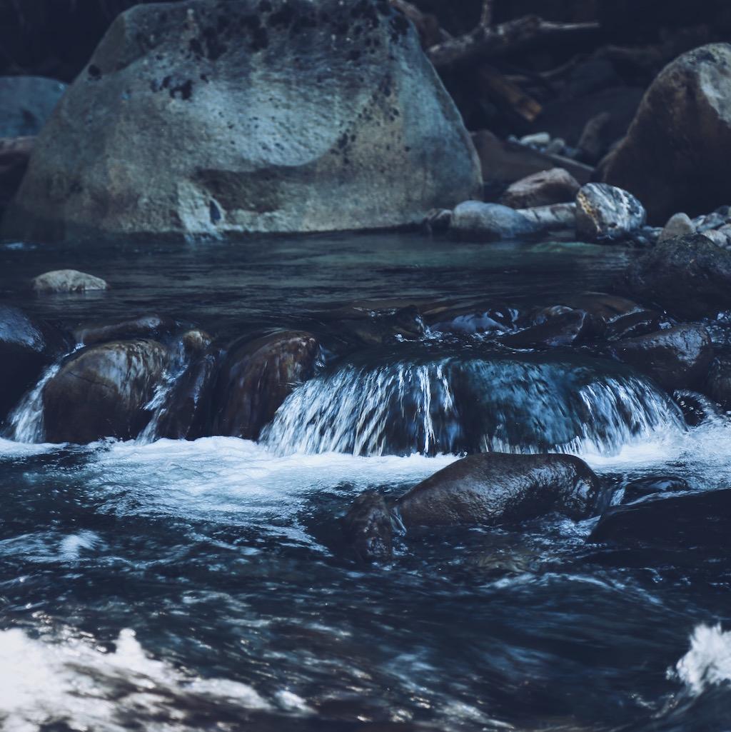A stream in Glacier, WA.