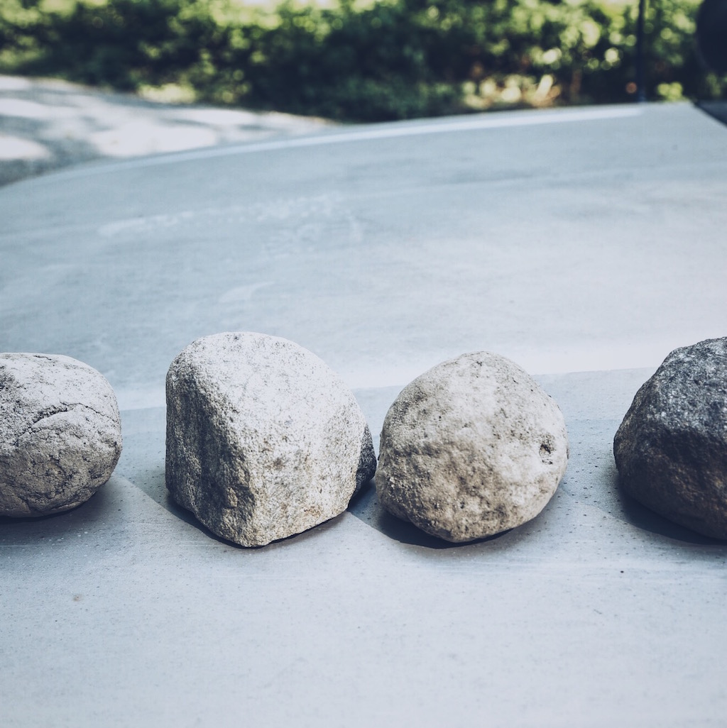 Two rocks are real, two are fake. Can you tell which ones are what?