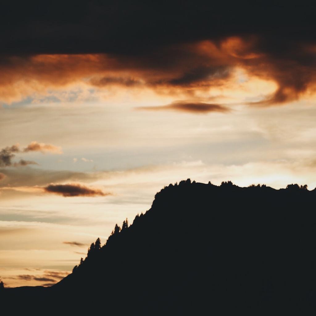 Sunset near Artist Point.