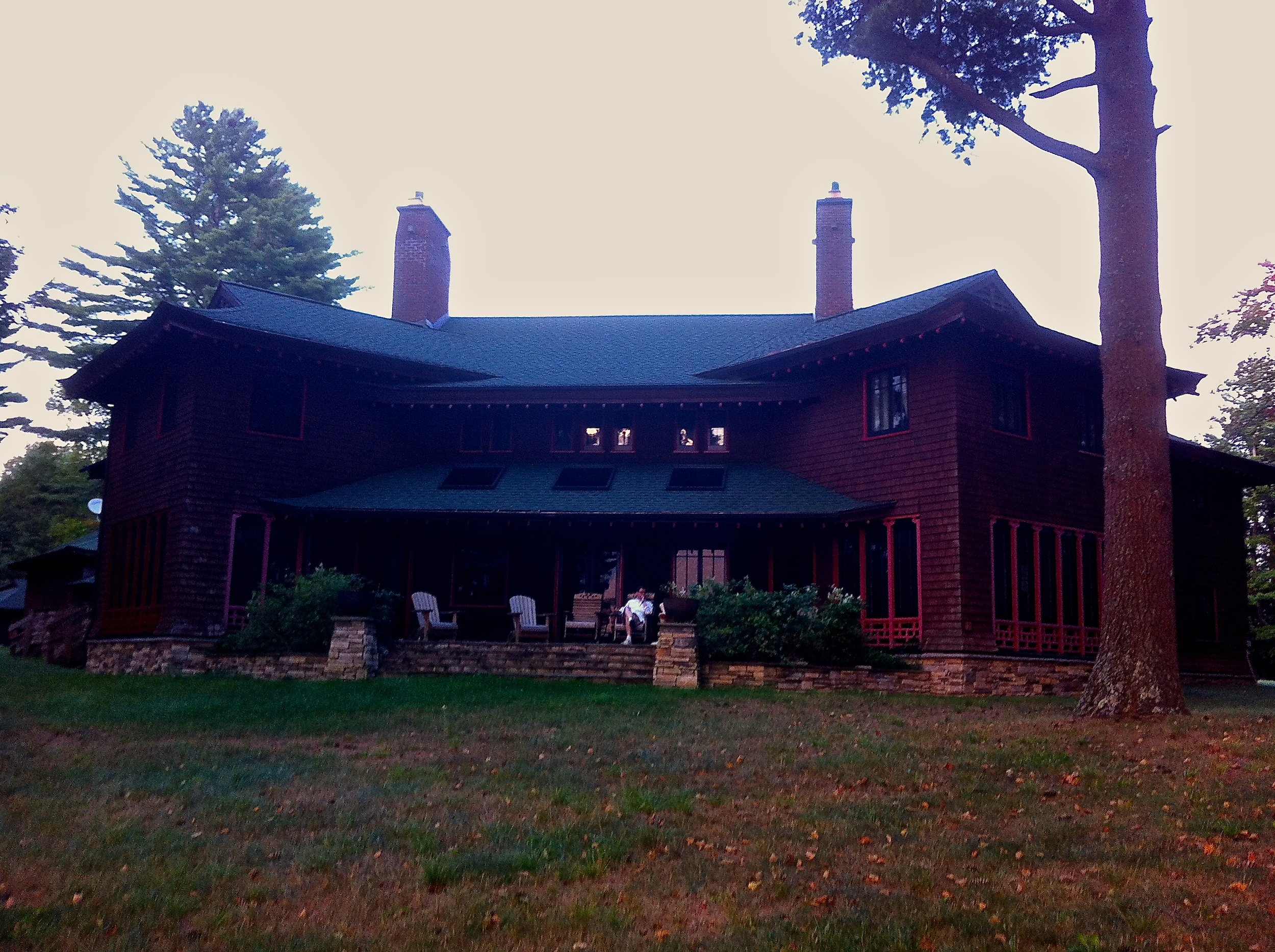 President Harrison's Lakehouse from 2nd Lake, Photo Credit: David W. Weygandt