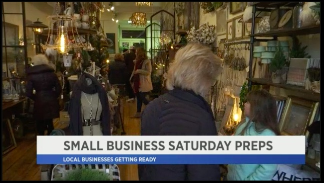 Link:   http://spectrumlocalnews.com/nys/capital-region/news/2017/11/25/after-months-of-planning--local-shops-welcome-small-business-saturday