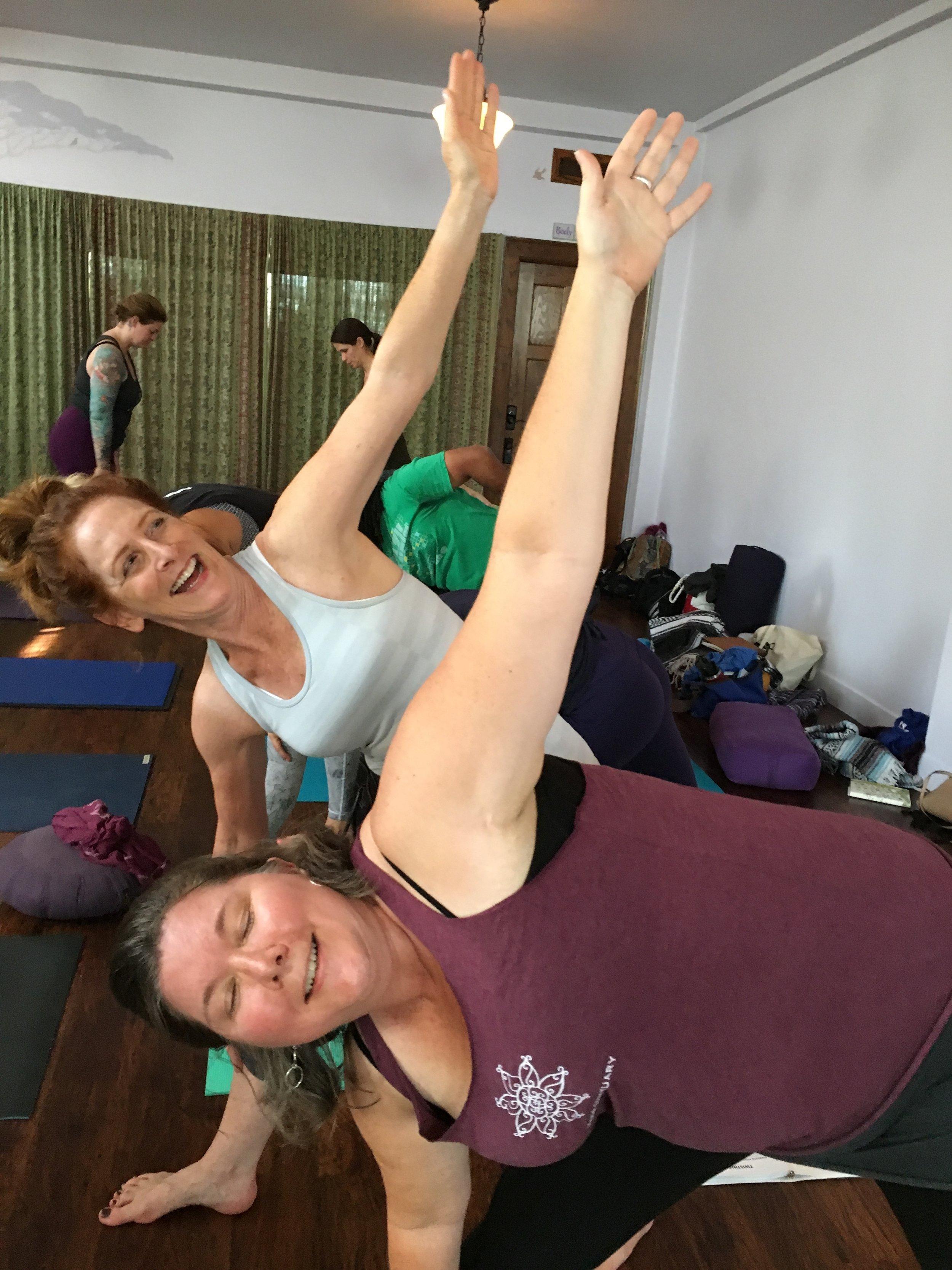 Mardy + Rachel teach triangle .JPG