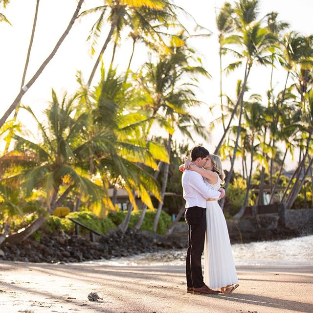 Its not that often I have my wedding couple ready and dressed for their big wedding day as the sun is coming up, but I love it when it happens. The morning light is always amazing and the beach is empty. It was a perfect time for their first look.  #mauiphotographer #mauiwedding #hawaiiwedding #beachwedding #sunriseshoot #hawaiiwedding