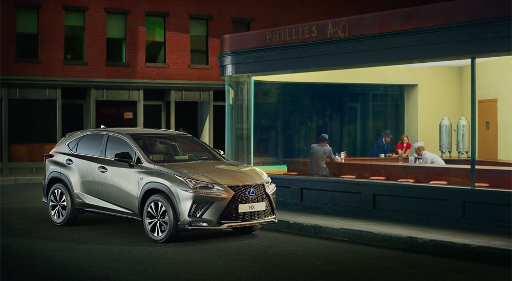 CHI & PARTNERS - LEXUS NX 'The Art Of Standing Out'  Famed for its exquisite design credentials, Lexus pays homage to some of the world's greatest works of art in its new campaign, directed by Ne-O at Stink, for the Lexus NX. Wake The Town's bespoke track answers the emotional brief and  Clearcut Sound  manipulated the stems to ensure the timing and build of the audio works perfectly to punctuate each work of art.