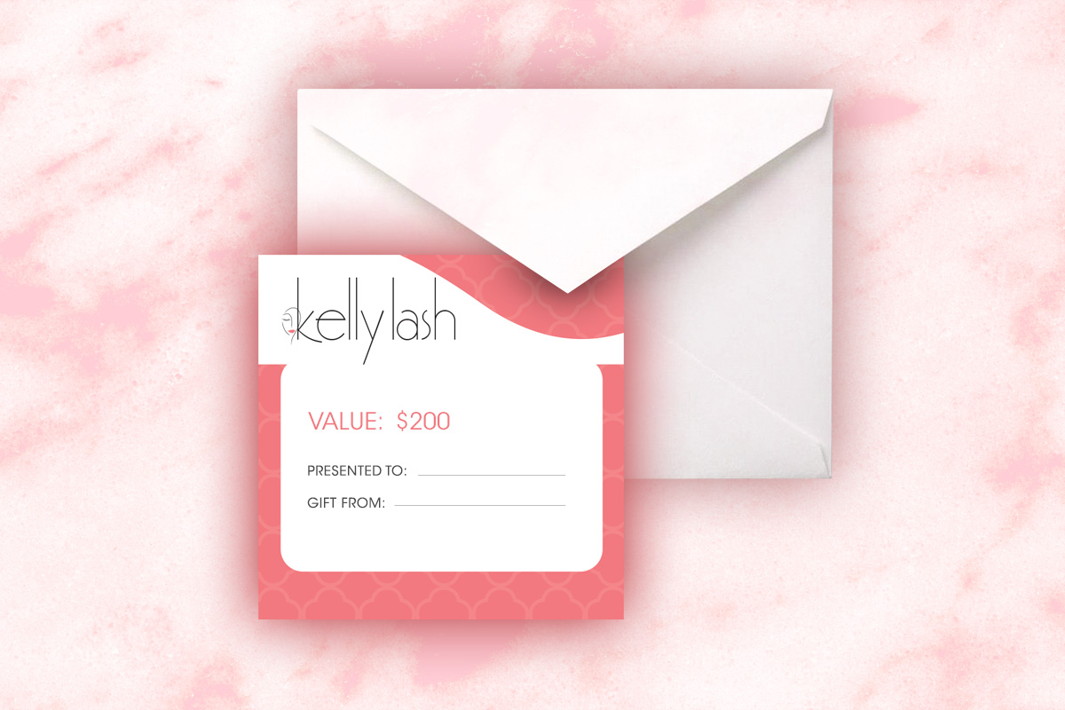 gift certificate kelly lash