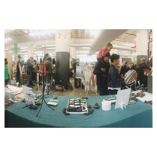 The view from the booth at the #renegade #brooklynpopup TBD and other fantastic makers are here today and tomorrow from 11am to 6pm. Come get your holiday shopping done! • • • #makers #holidays #holidayshopping #madeinbrooklyn #handmadejewelry #makersgonnamake #shopsmallbusiness #shoplocal #madeinnewyork #benchjeweler