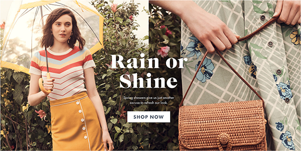 ModCloth shop website page
