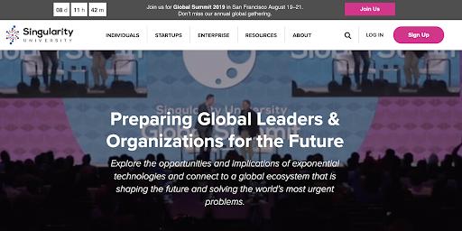 Singularity University Homepage