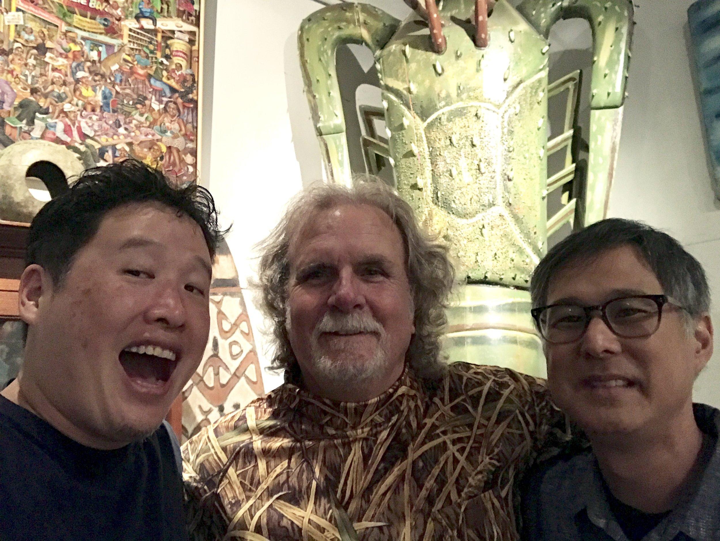 Luke Chueh, Ernie Wolfe and Eric Nakamura
