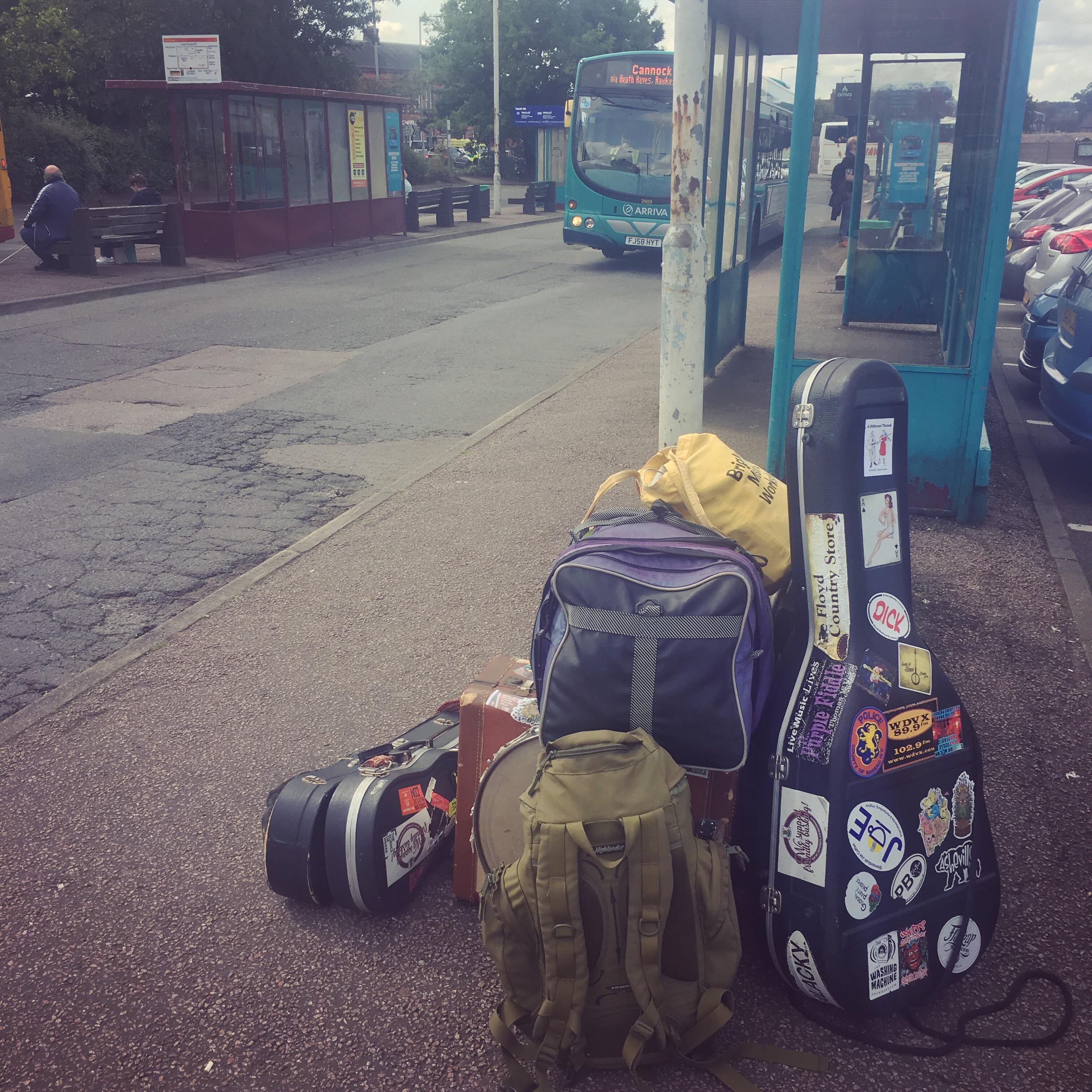 Leaving Lichfield Bus Station