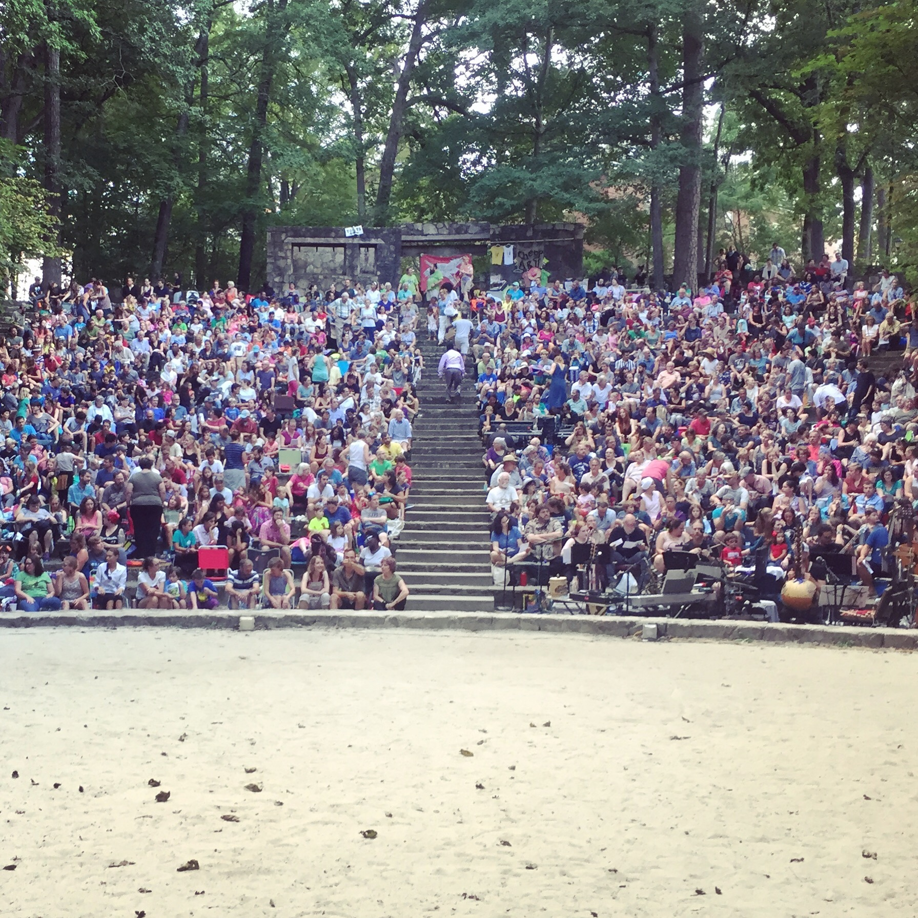 Paperhand show audience at the Forest Theatre, Chapel Hill