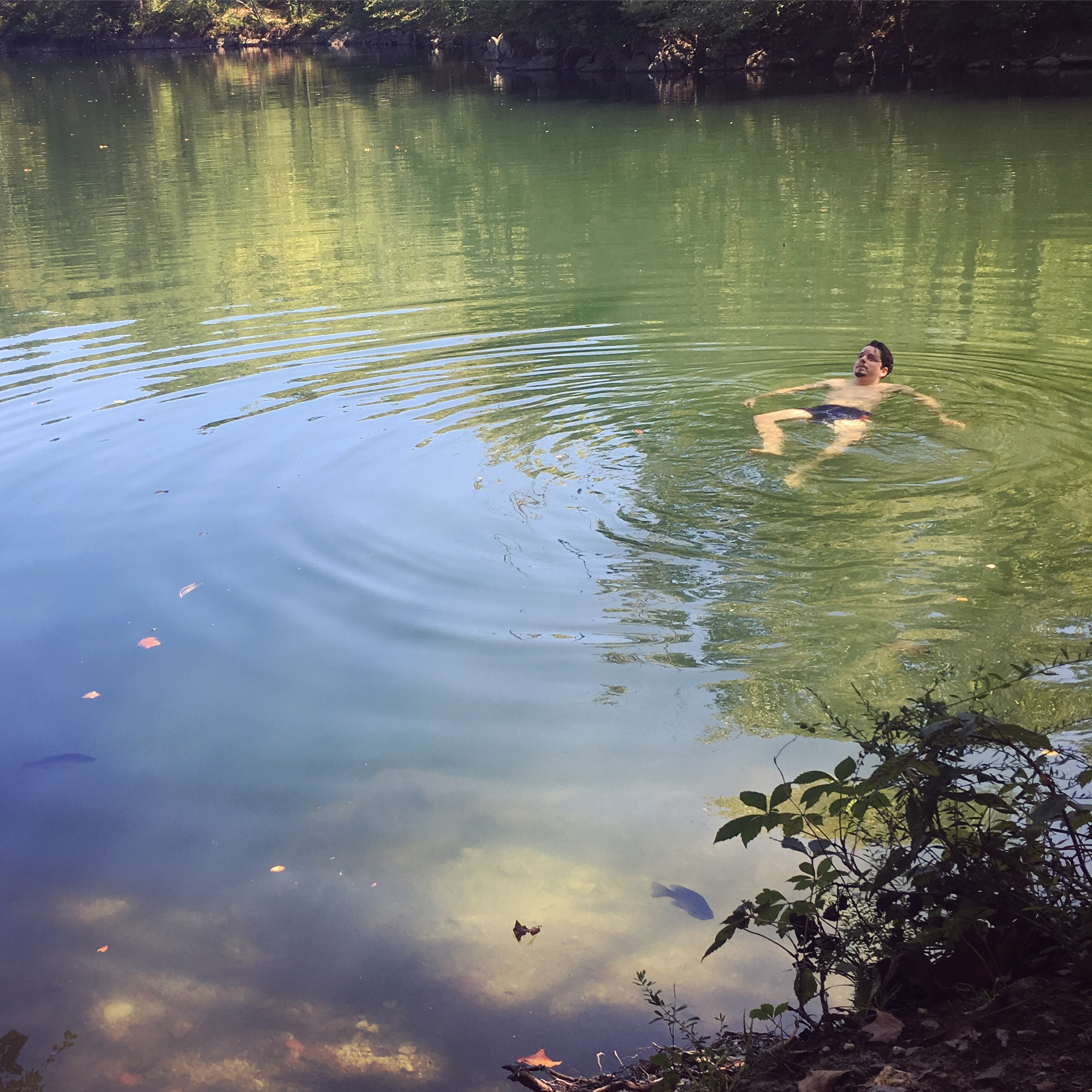 Robert enjoying a wild swim