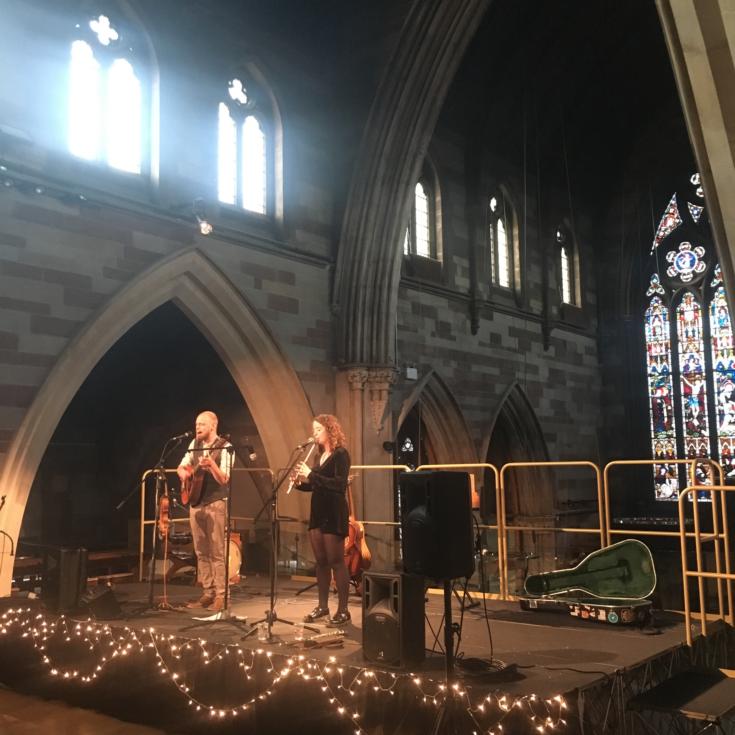 Chris Elliott and Caitlin Jones at our farewell concert in Lichfield