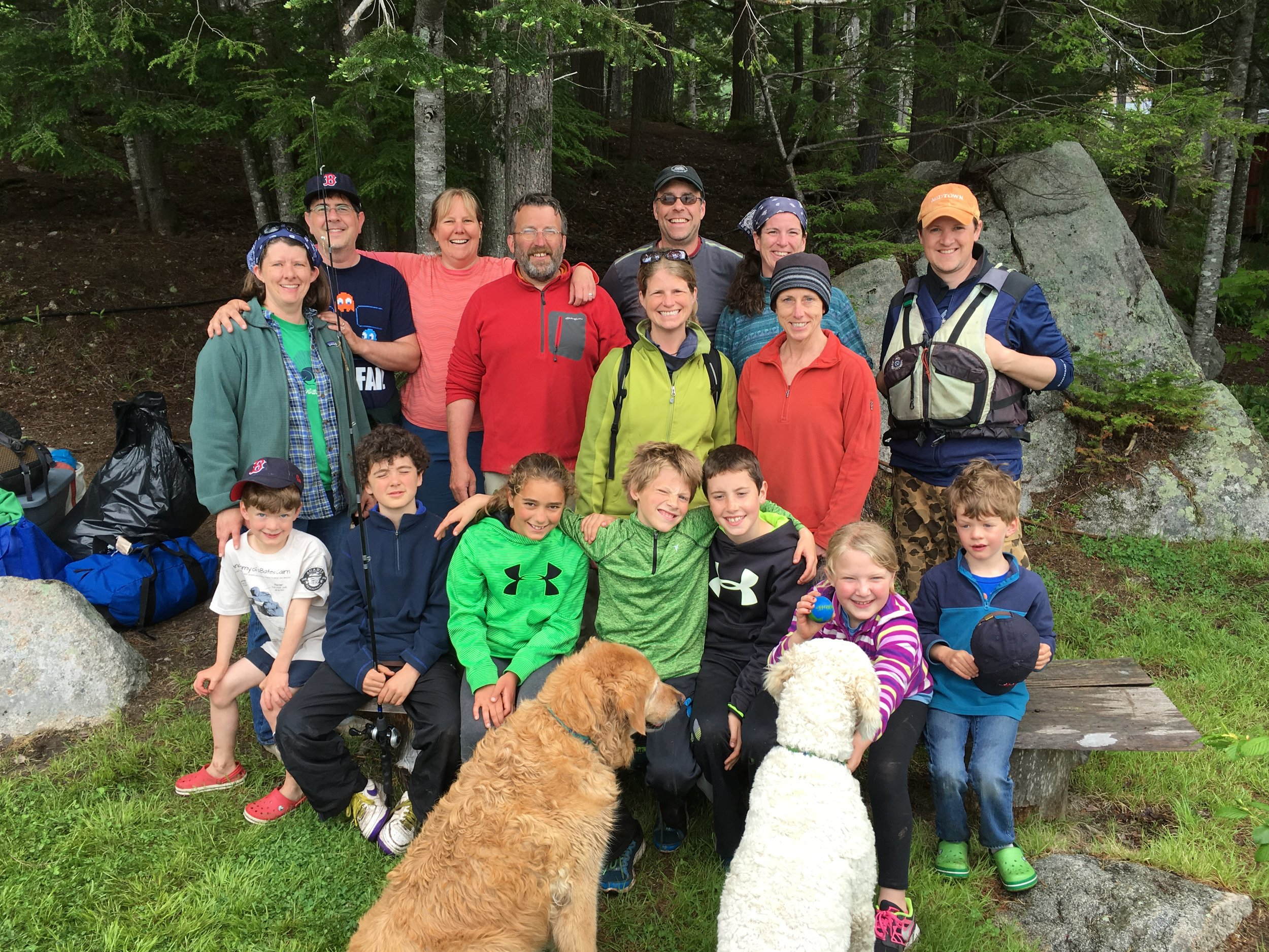 Super duper group of friends Memorial Day Weekend at Debsconeag Wilderness Camp, 2016