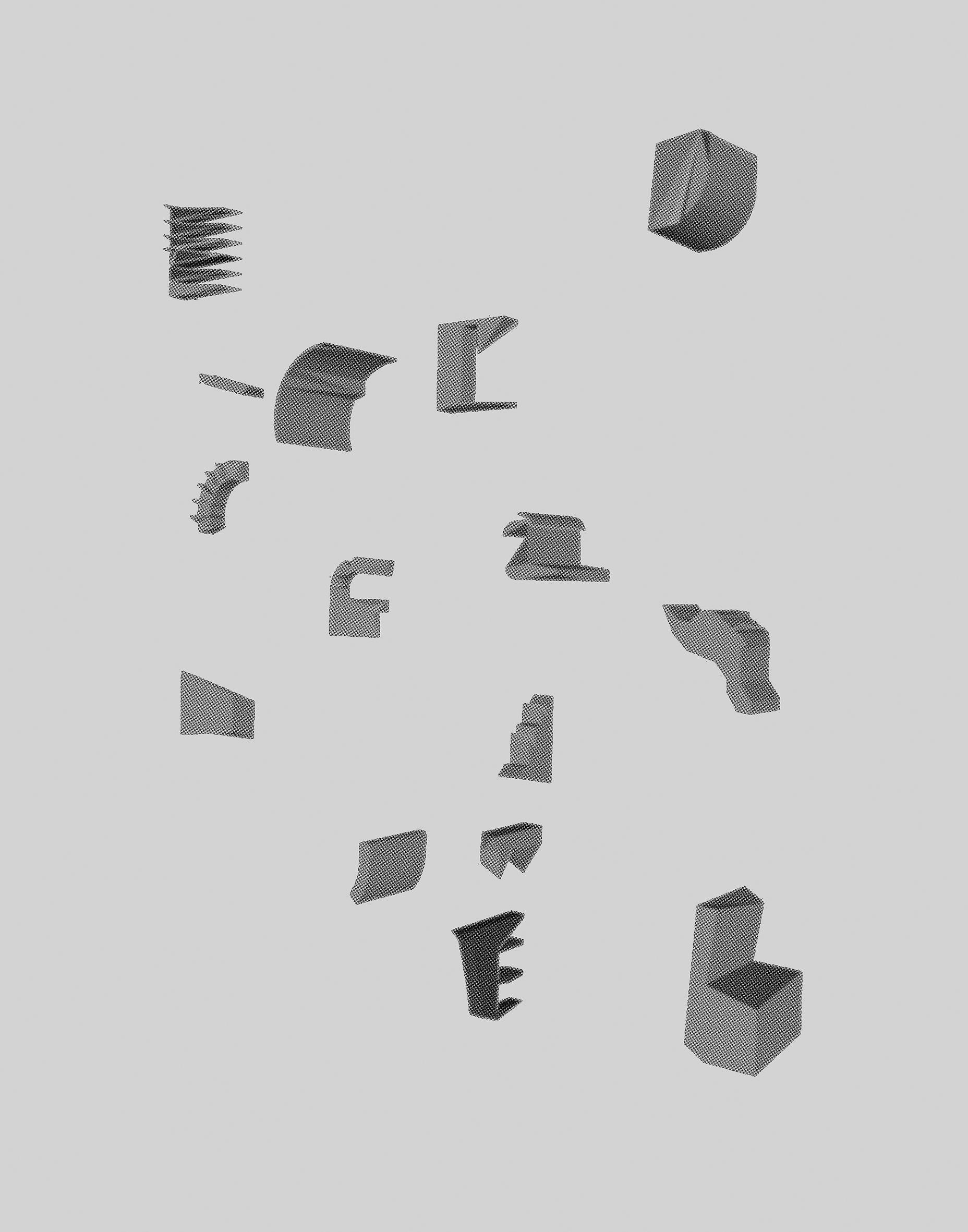 "Deconstruction of Planar Perception ,   2018.Inkjet print, 11""x14"""