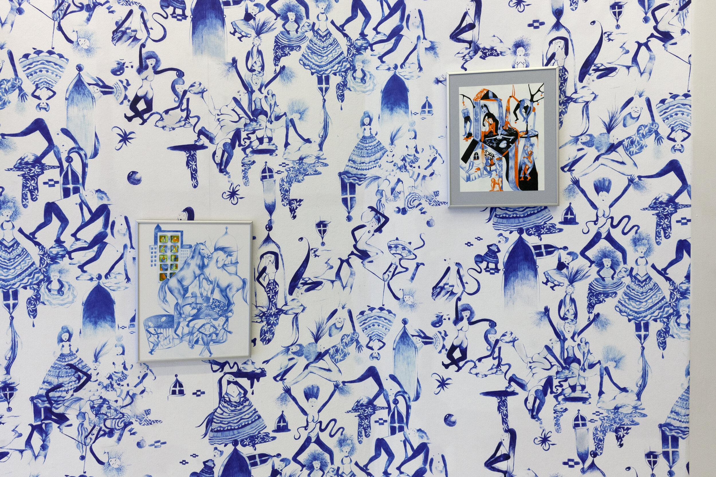 Poupette Confined, 2019. Wallpaper, 100 x 150 inches. Edition of 5