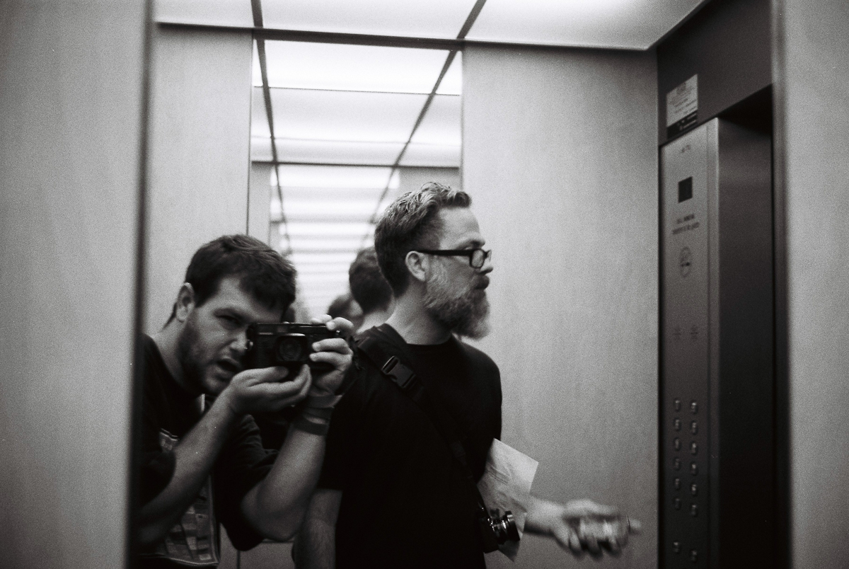 Something about photographers and elevator selfies.