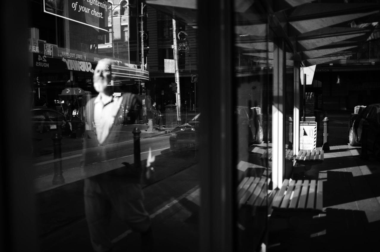 Reflections, bottom of Elizabeth St, Melbourne.