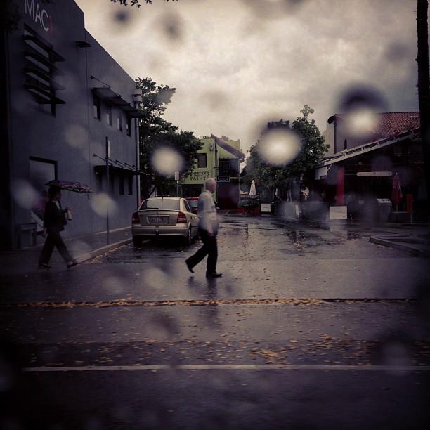 James St, rain, in between locations (Taken with  Instagram )