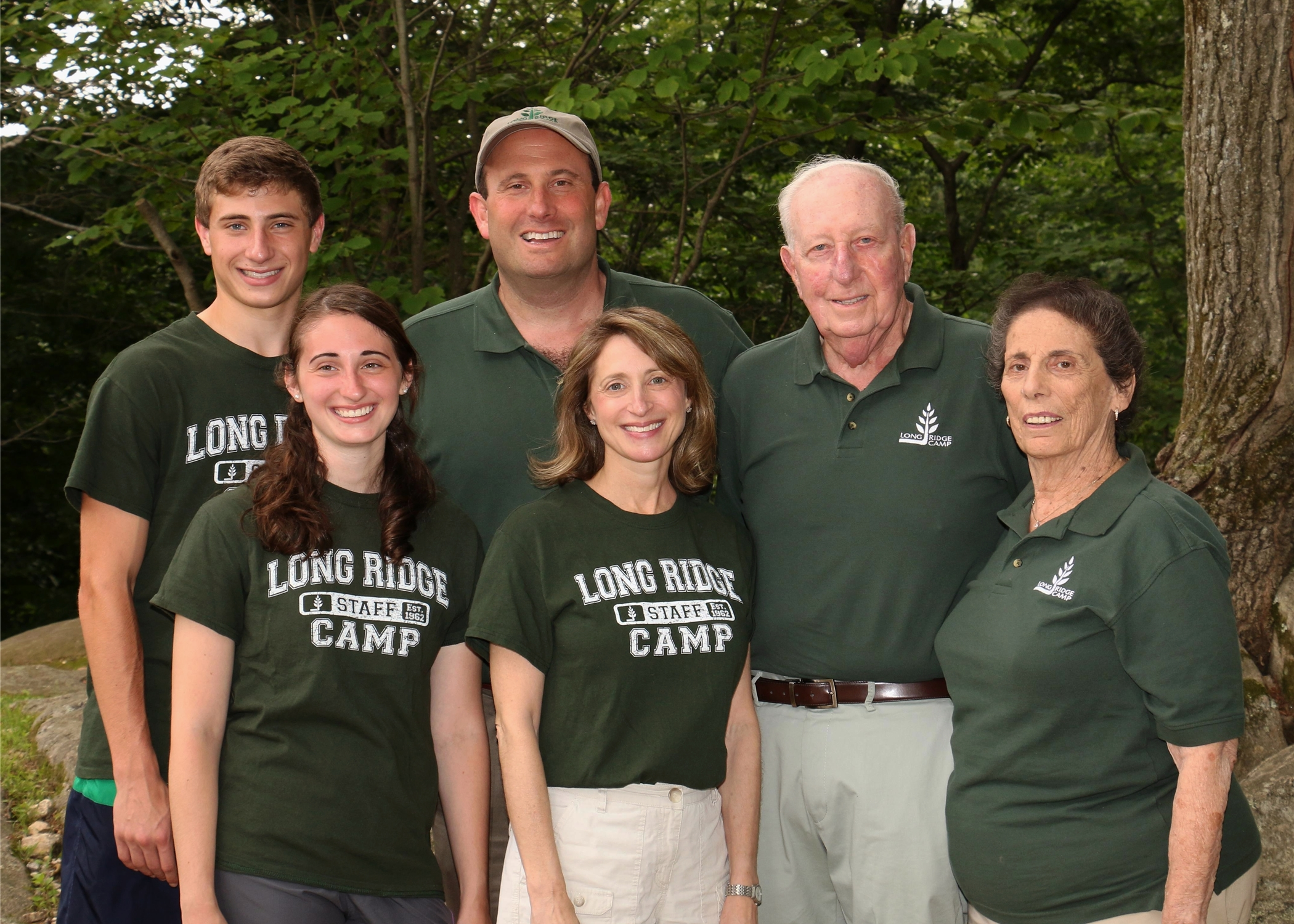 The Alswanger Family - (from left to right) Matthew, Melanie, Geoff, Gayle, Herm and Myrna
