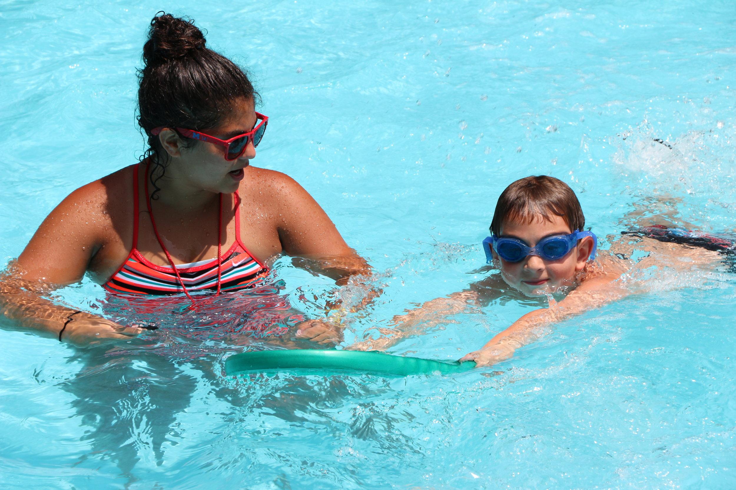 Katie with boy Instructional Swim.JPG