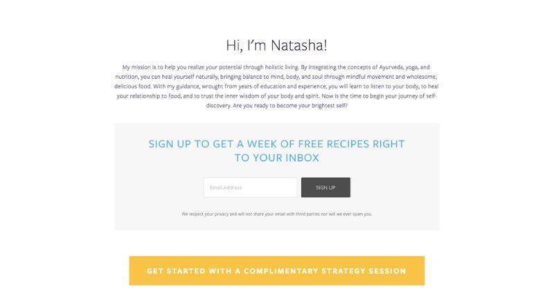 Natasha Wellness Website Review - Kelsey O'Halloran, Copywriter and Website Strategist for Wellness Entrepreneurs