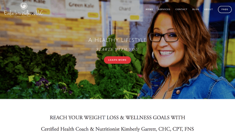 Evolve Into Wellness Website Review - Kelsey O'Halloran, Copywriter and Website Strategist for Wellness Entrepreneurs, Nutritionists and Holistic Health Practitioners