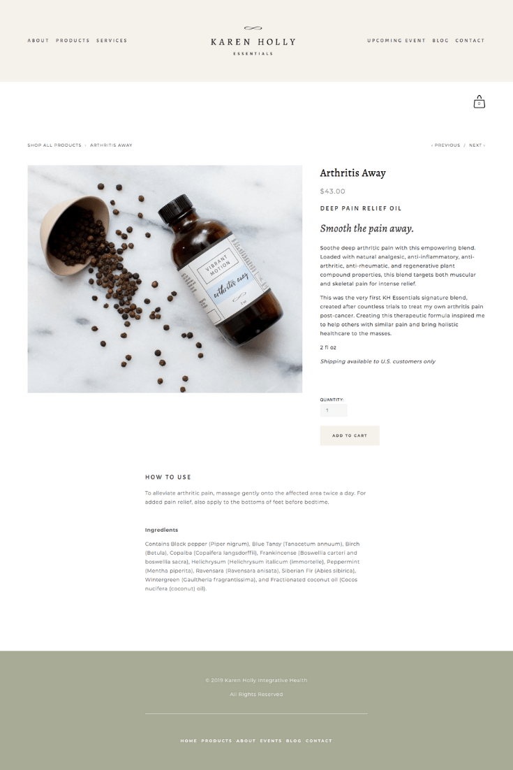 Website Copywriting for KH Essentials, Holistic Health & Beauty Brand | Kelsey O'Halloran, Copywriter & Website Strategist