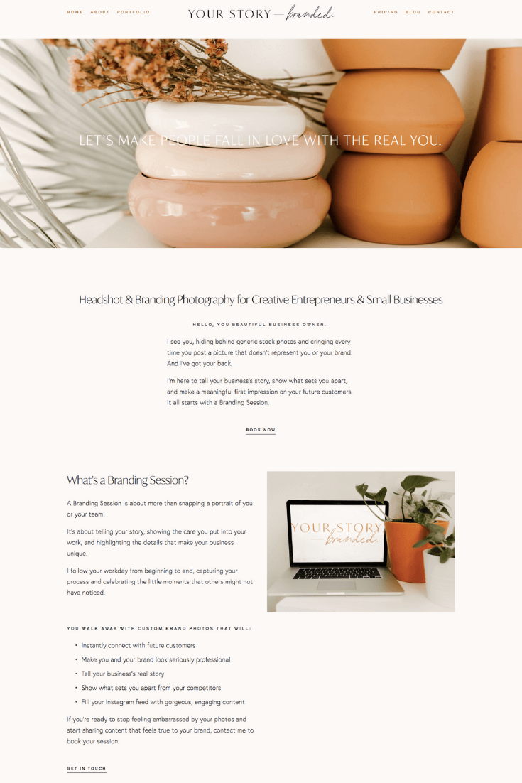 Pricing and services page copy for a branding photography website, by copywriter Kelsey O'Halloran.