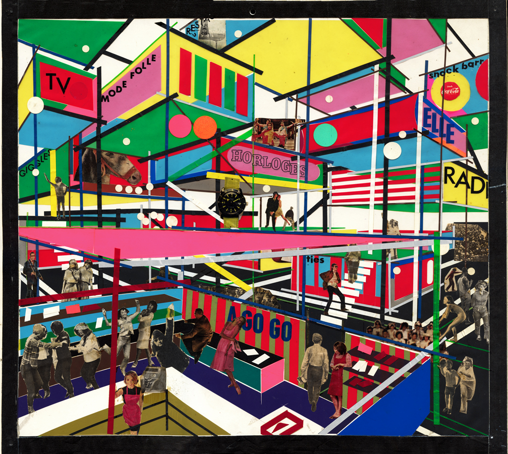 PALAIS METRO, Montreal, 1967 Collage perspective
