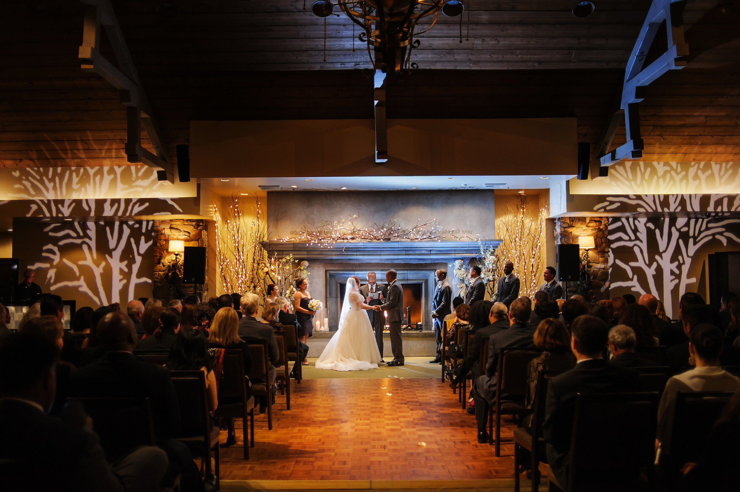 Wedding ceremony at Wine and Roses in Lodi California.