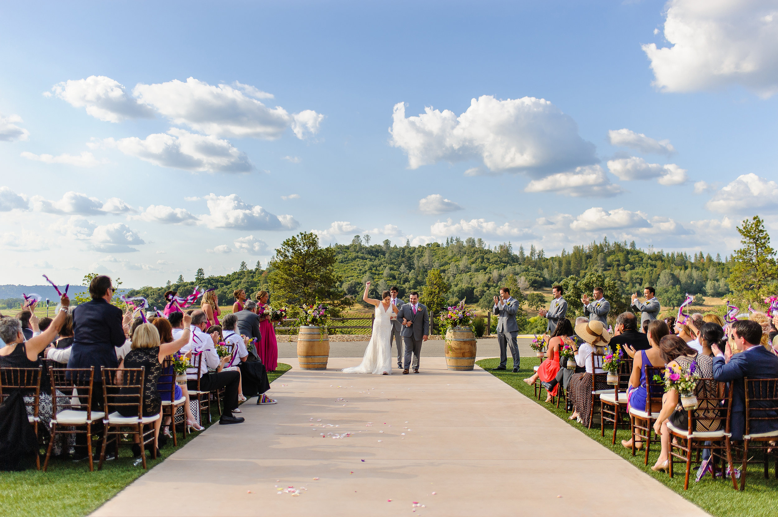 Ceremony at Helwig Winery in Plymouth California.
