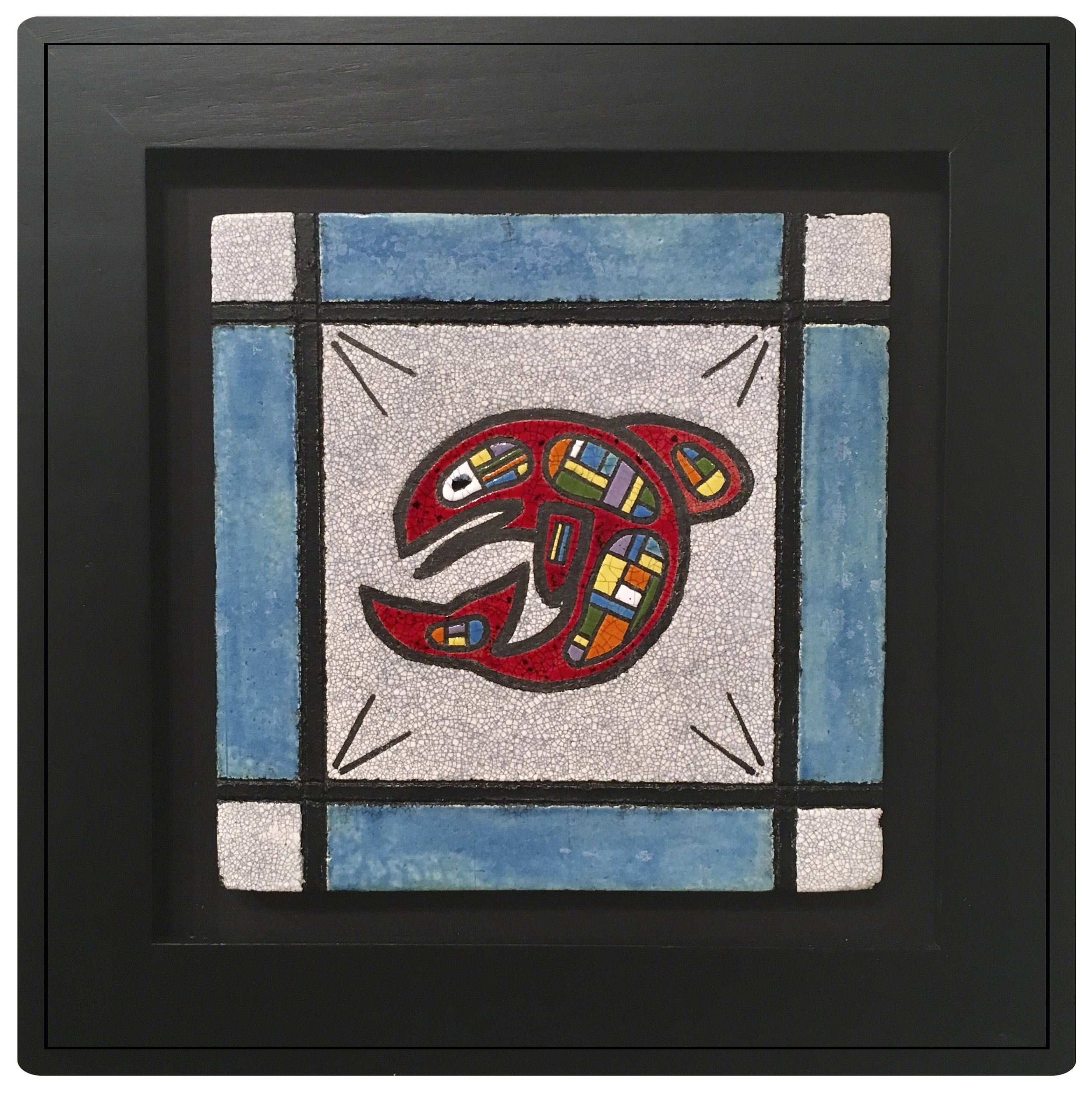 Northwest Salmon Art Tile
