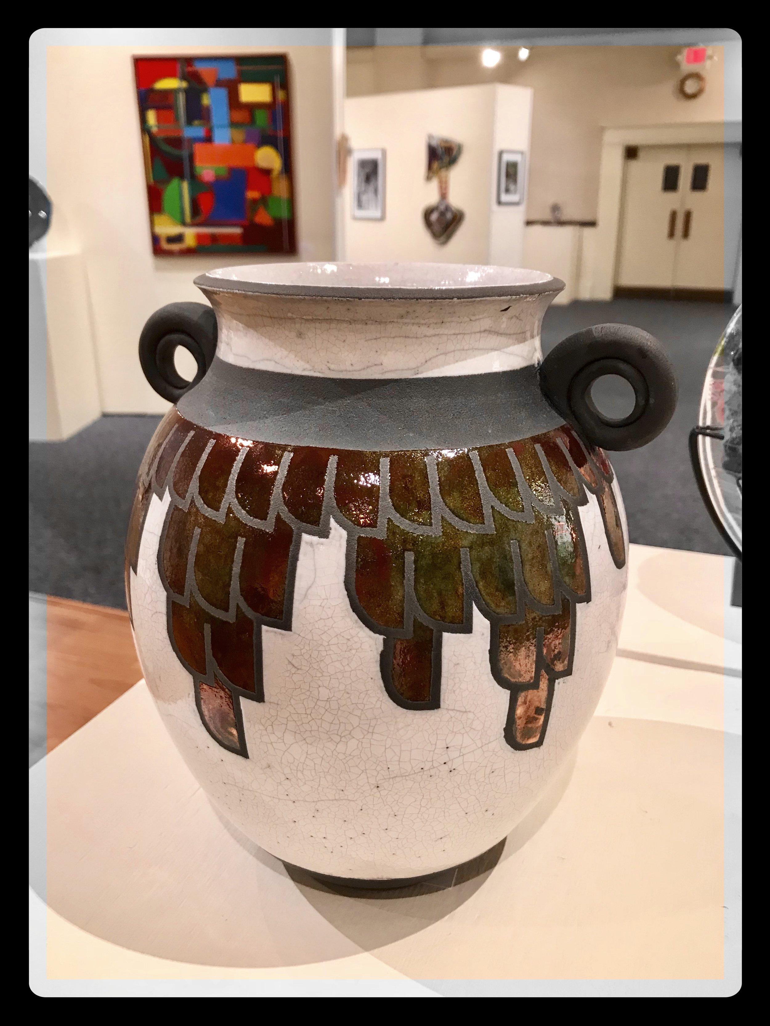 Feathered Vase