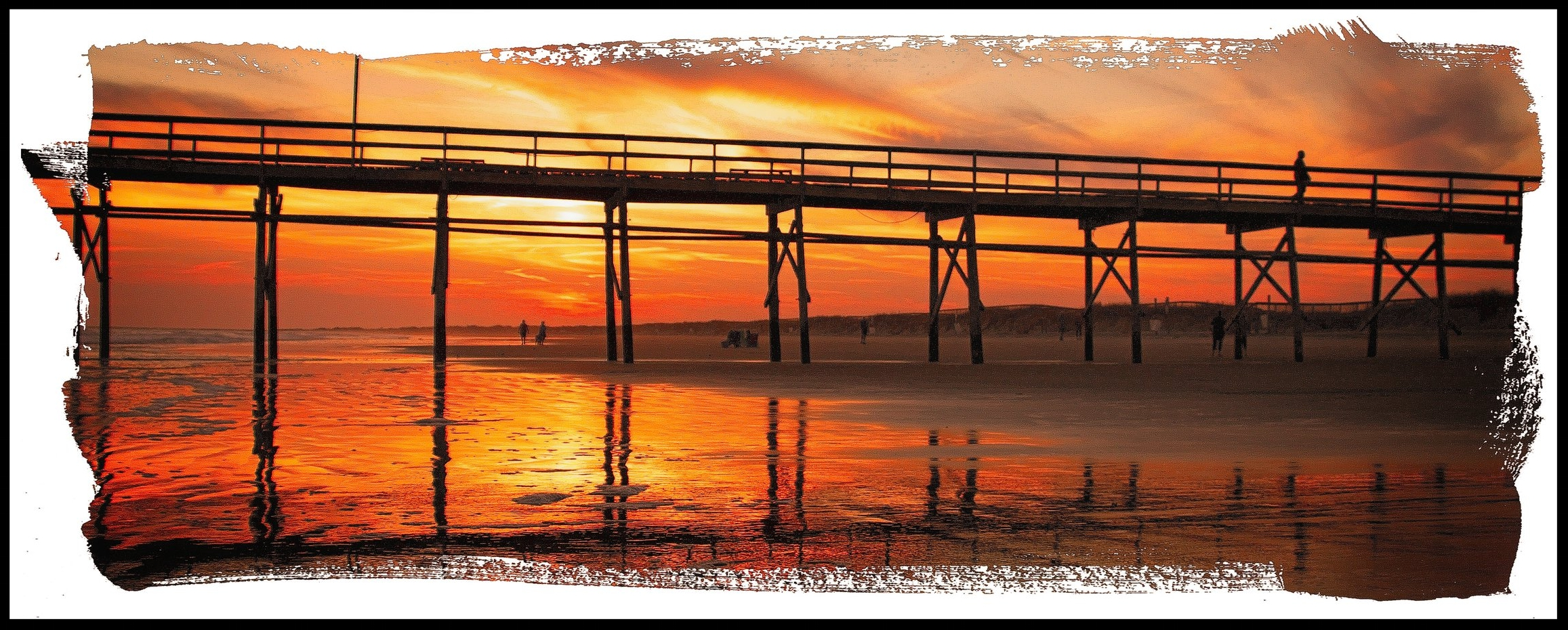 Sunset Beach Pier at Sunset 01 8x20.jpg