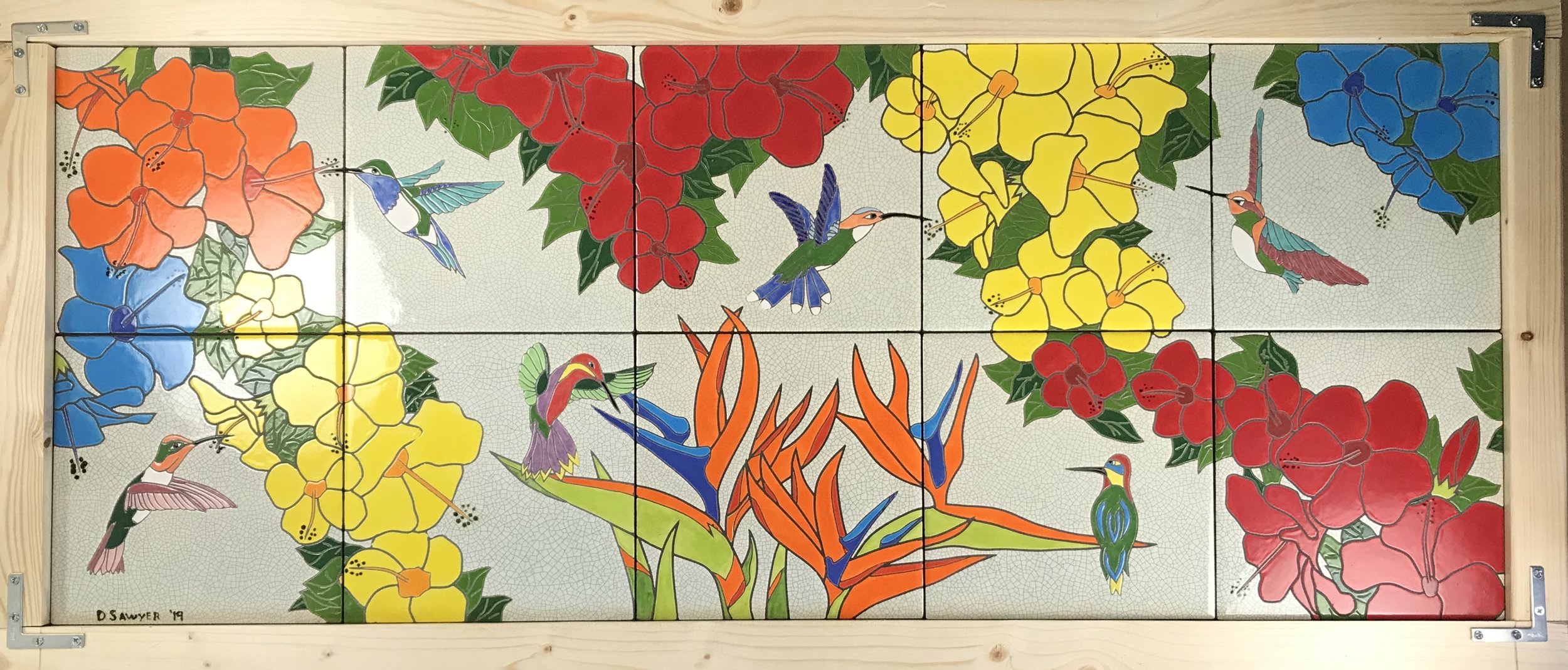 Floribbean Afternoon art tile mural