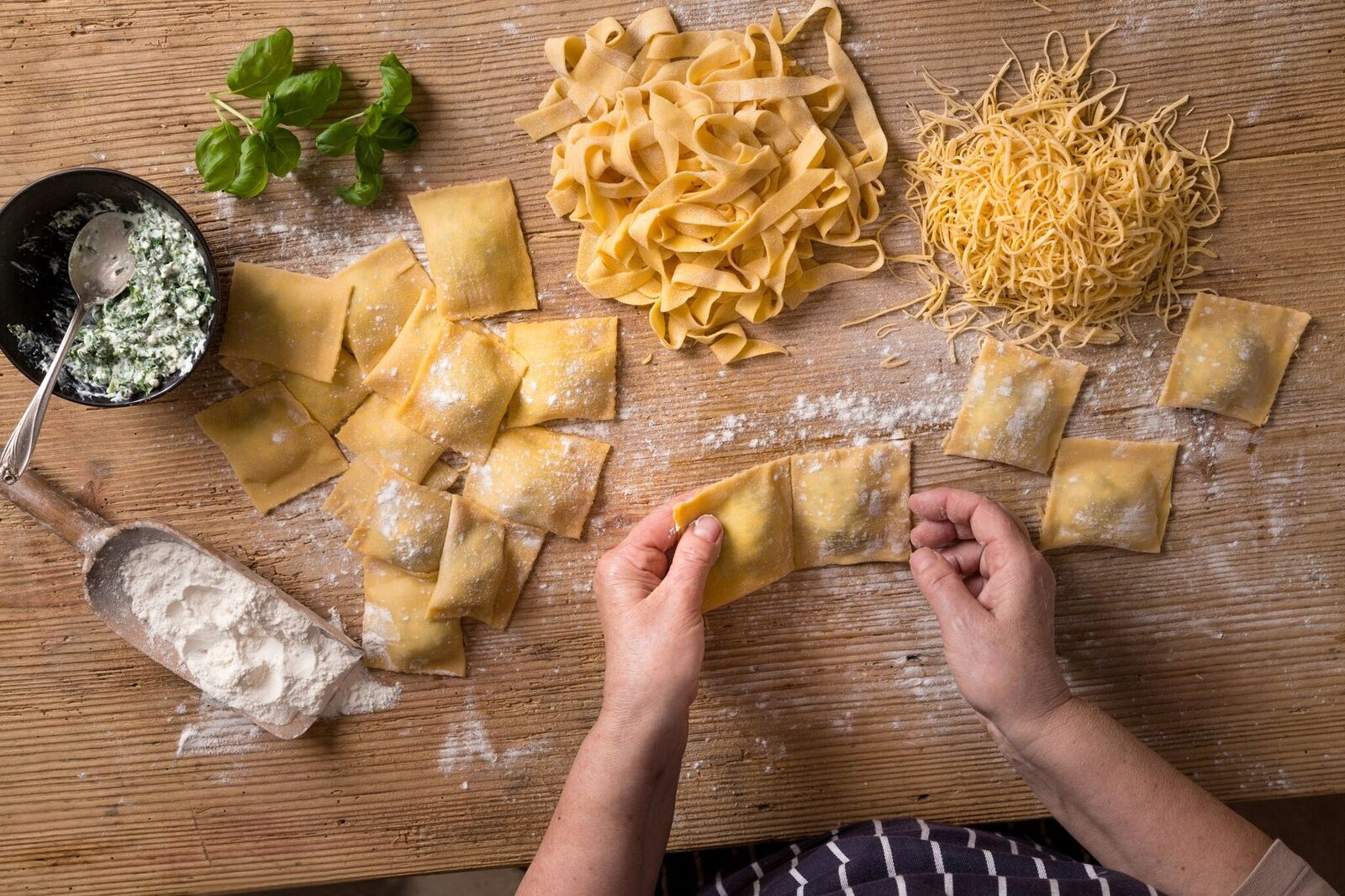 Quality ingredients and authentic preparation methods are kings of the kitchen at this local pasta paradise.
