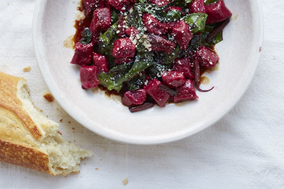 Hand-made beet gnocchi is another must-try product from Canmore Pasta Company.