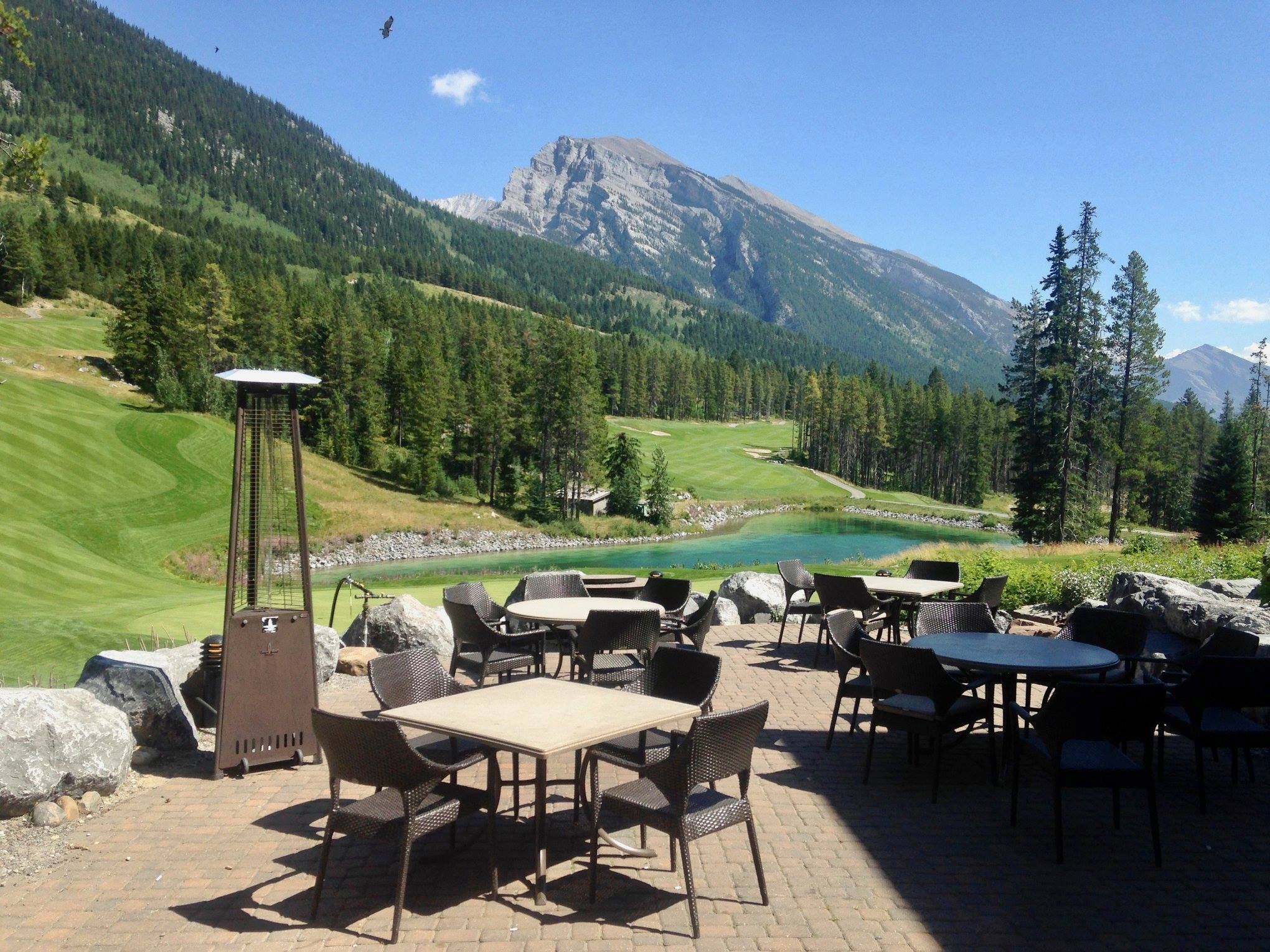 Patio paradise: You don't need to be a golfer to enjoy Silvertip Resort's spectacular views. Dine at Rustica and the scenery is the perfect accompaniment to your meal.