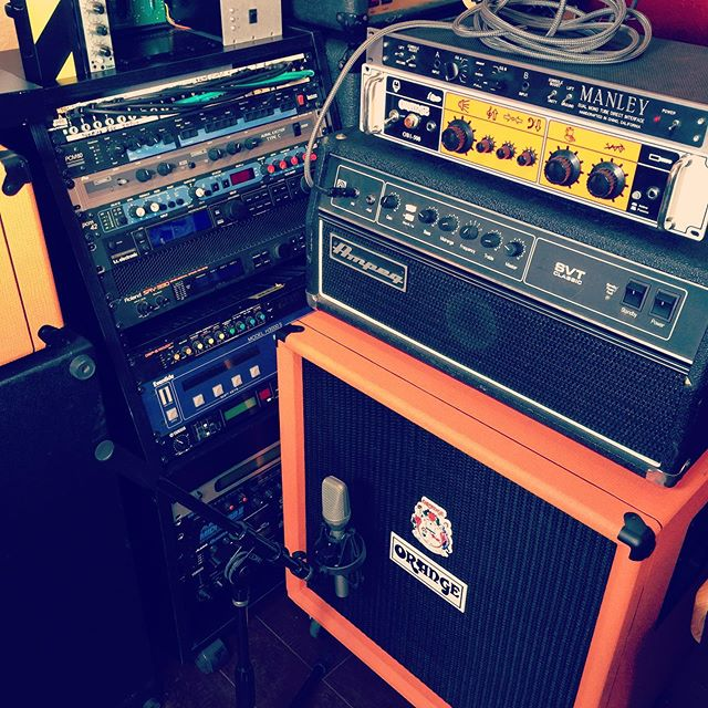 These are a few of my favorite things... #basstracking #bassrig #rackgear #gearporn #gearslutz #recordingstudio #makingrecords #musicstudio #analog #orangesmps #ampeg #manleylabs #eventide #lotsof #microphones #rackspace #orangecountry #socal #ocregister #bluehousesoundstudio #mixing #studio #bassplayers