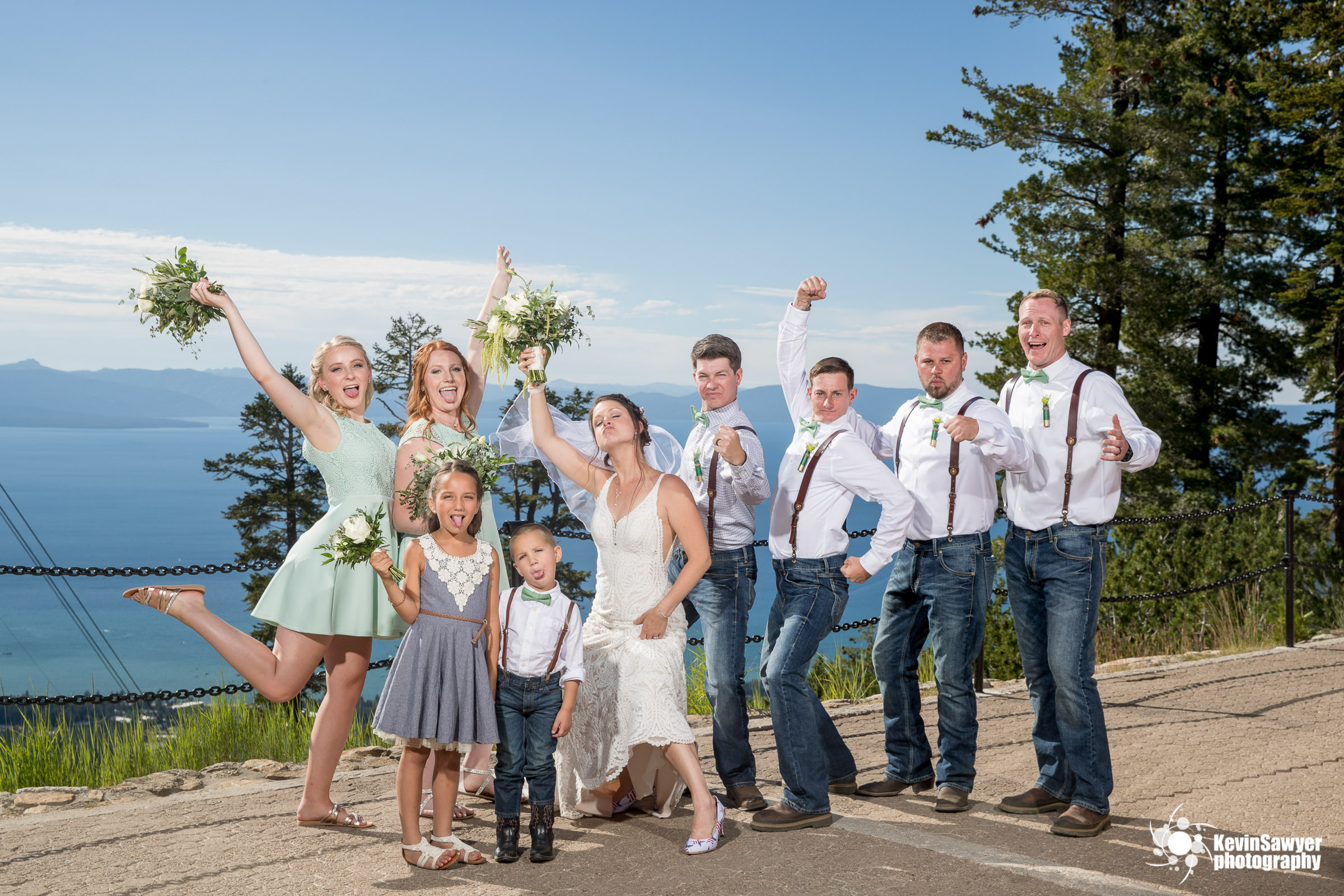 lake tahoe wedding photographer heavenly  bridal party