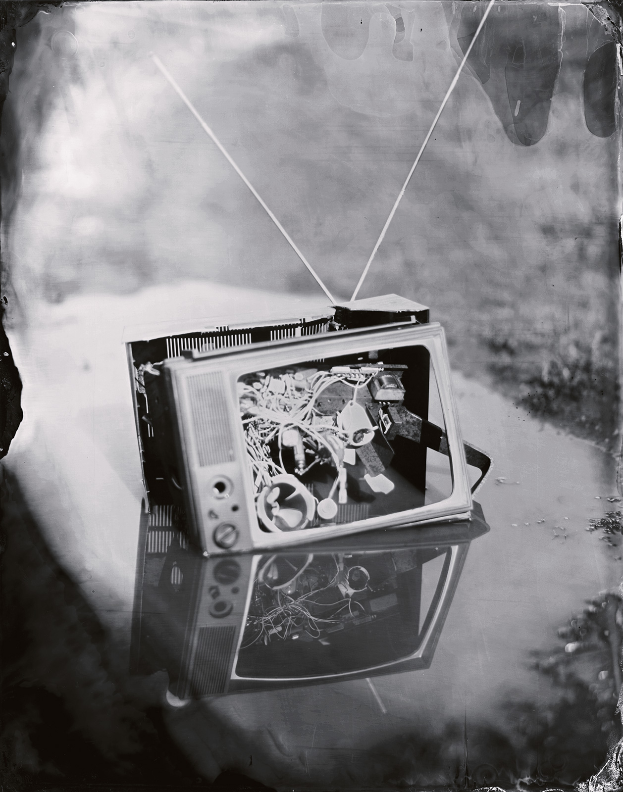 Television in Puddle