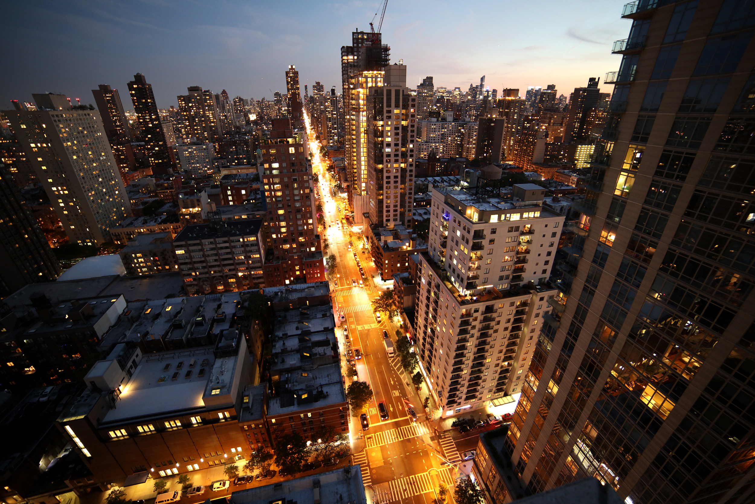 City at Night, Upper East Side