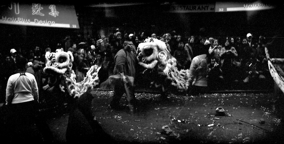 Chinatown Parade, Double Exposure