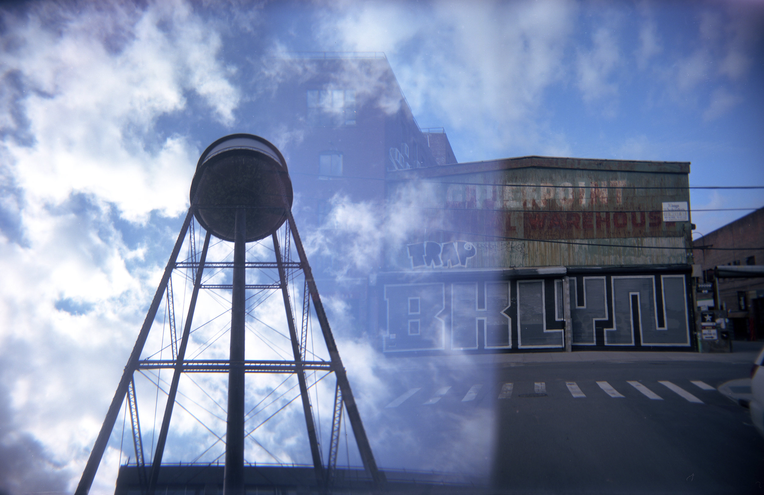 Water Tower Double Exposure, Greenpoint